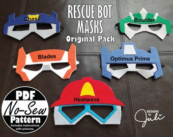 Rescue Bot No-Sew Mask Pattern (Original Pack)