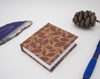 Leaves Fabric Hardcover Mini Notebook Casebound Journal