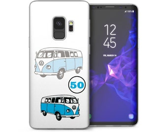 Samsung Galaxy S9 Case, Retro Camper Van Vintage Artwork Ultra Thin Best Cover