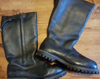 Vintage German military naval boots, fur lined