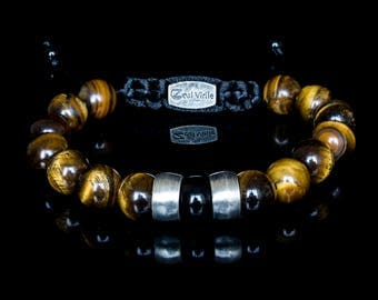The tiger eye - Mens Bracelet, Mens Jewellery, Silver Bracelet, Men Luxury Jewellery, Men Beaded Bracelet, Men Gift, Boyfriend Gift