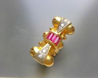 Retro Ruby  Ring