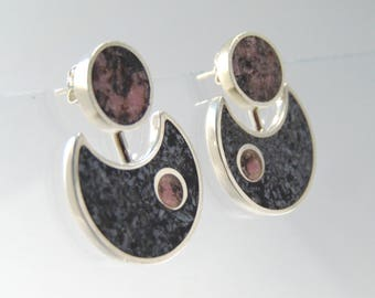 925 Sterling Silver Two Way Earring Jackets- BR53RO