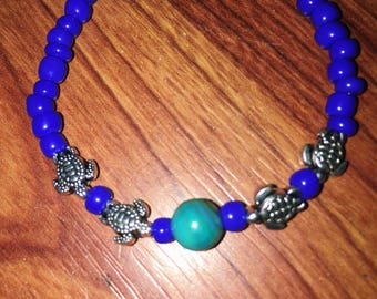 Beaded Turtle Bracelet