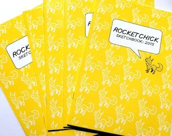 Rocket Chick/Kaijurocket 2015 sketchbook sketch book, A5 black & white book