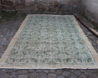 faded color Free Shipping king size handmade turkish rug 6.9 x 10.3 ft. türkischer Teppich home decor large rug organic wool rug MB194