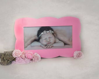 Hand made from pine new baby 20x10 photo frame hand made to order and suit your size.