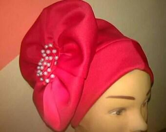 Rose turban cap