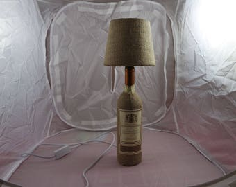 Table lamp, upcycling, wine bottle, decoration, DYS