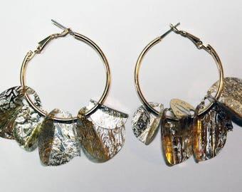 Folded Sequin Earrings