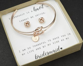 Knot Bracelet Bridesmaid Thank You for Helping us Tie the Knot  Bridesmaid Thank You Gift Tie the Knot Bracelet  Love Knot Bracelet