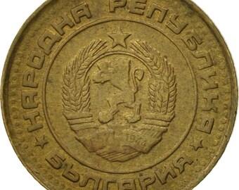 bulgaria stotinka 1988 ef(40-45) brass km84
