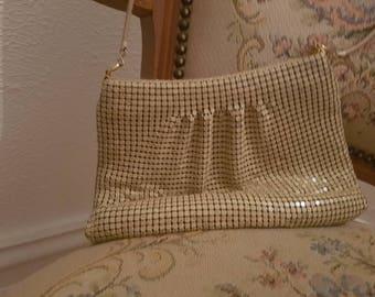 Cream vintage glomesh handbag