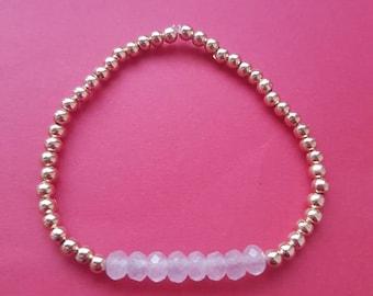 Rose gold and rose Quartz healing bracelet