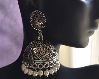Jhumkas - Elegant Jhumkas with pearls