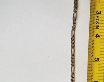 Sterling Silver Wide loop Chain link braclet