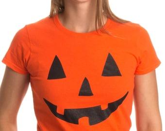 JACK O' LANTERN PUMPKIN Women's T-shirt / Easy Halloween Costume Fun Tee