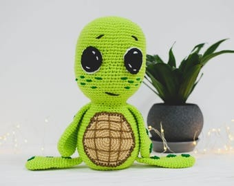 Soft toy turtle Tortoise toy Stuffed animal zoo Plush turtle toy Amigurumi turtle Stuffed turtle toy Crochet turtle Crochet turtle toy