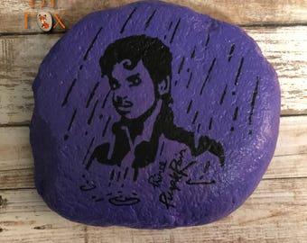 Painted Rock - Prince (Purple Rain)