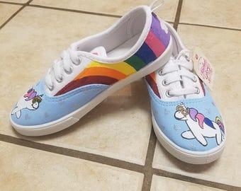 Hand-painted Unicorn Shoes