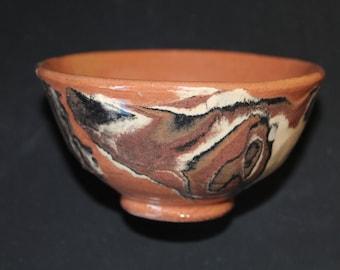 Ceramic tea cup, mokumegane 1