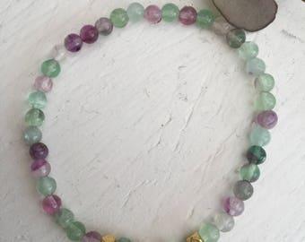 Bracelet Fluorite 4 mm