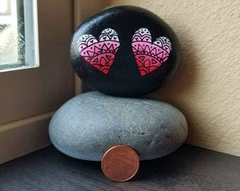 Two Hearts (Rock Painting)