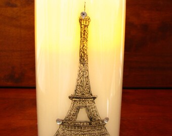 Eiffel Tower Designed LED Candle