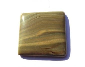 Natural Picture Jasper Square Shape 30 mm Cabochon Gemstone For Jewelry