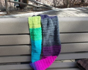 Handmade crocheted infinity scarf