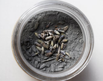 Charcoal + Lavender Detox Mask   Activated Charcoal   Bentonite Clay   Facial Mask   Acne Mask   Oily Skin Care   Normal Skin Care