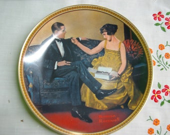Editor Norman Rockwell plate