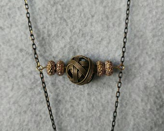 Bronze Balls - Fob Lanyard