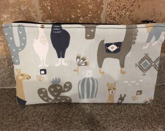 Llamas cosmetic bag