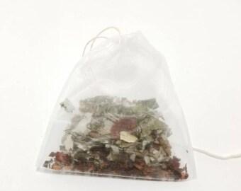 Organic Red Raspberry Leaf and Honeybush Tea, Raspberry Leaf Tea, tea bags, Loose Leaf Tea.