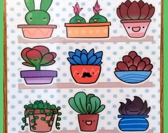Sweet Succulents Sticker Pack