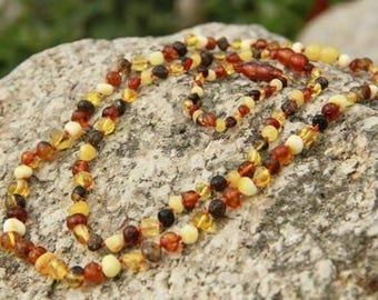 Genuine Baltic Rainbow Amber Necklace