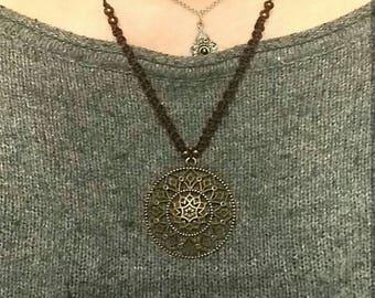 Macrame Chain Mandala Ornaments