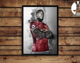 Lukaku print wall art home decor poster