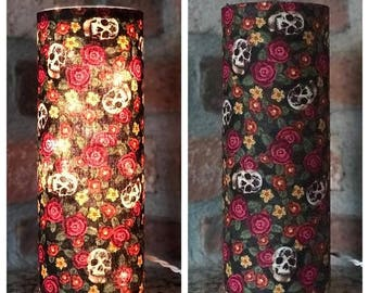 Roses and Skulls Accent Lamp