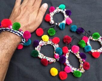 Adjustable Velvet Beads Bracelet-709