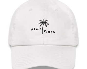 High Vibes White Dad Hat