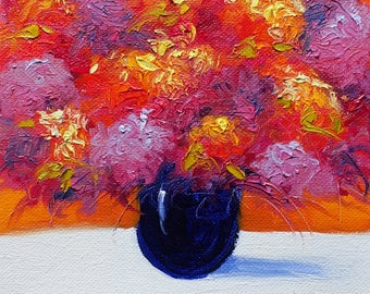 """Bountiful Bouquet - Oil Painting 6 x 6"""" Size - Flower Painting"""