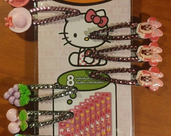 Decorated Snap Clips Barrettes