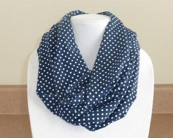 Polka dot infinity scarf