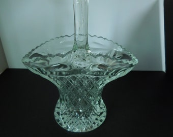 Vintage Princess House/Large Crystal Basket with Handle