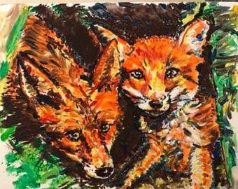 Fox and her cub