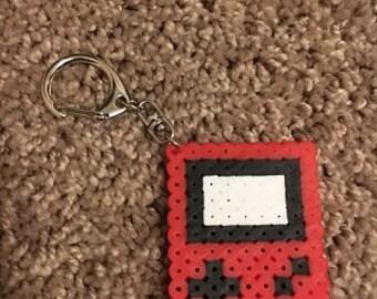 Gameboy Perler Keychain