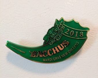 Mardi Gras 2018 Bacchus Commemorative Throw - Krewe of Bacchus