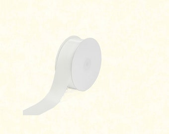 "25 Yards: 1.5"" White Satin Ribbon"